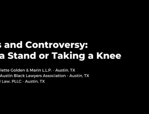 UT Law Selects Pete Reid's Webcast on 'Taking a Knee' to Help Lawyers Better Educate Themselves on Issues of Bias and Racism